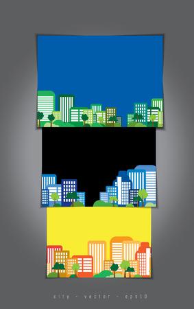 City illustration set  Vector  Vector