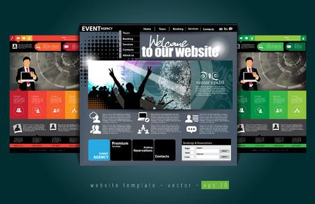 web portal: Website design template,  Easy editable vector
