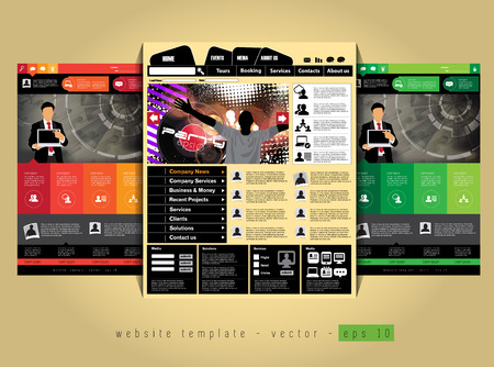 web portal: Website design template,  Easy editable vector