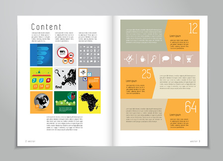 book cover design: Design layout for magazine or brochure