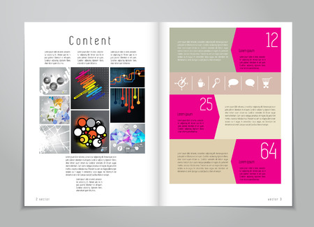 Design layout for magazine or brochure  Vector
