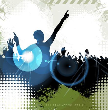gente bailando: Fondo del acontecimiento del disco