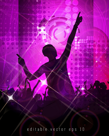 clubing: Disco event background