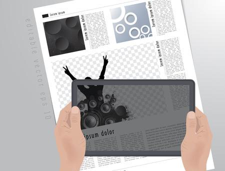 image editing: Design layout for presentation or e-book  Editable vector