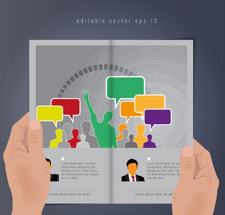 Business brochure design template  Vector  Vector