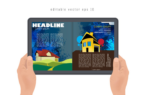 evening newspaper: Magazine layout  Vector