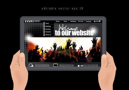 web design template, vector  Vector