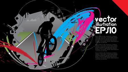 BMX,  Sport vector illustration  Vector