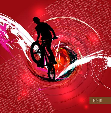 BMX,  Sport vector illustration