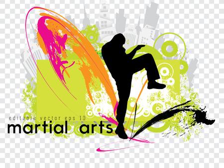 karate kick: Karate kick  Vector illustration
