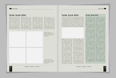 blank magazine: Layout magazine  Editable vector  Illustration