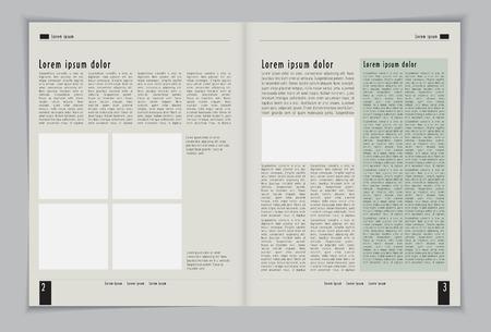 Layout tijdschrift Editable vector