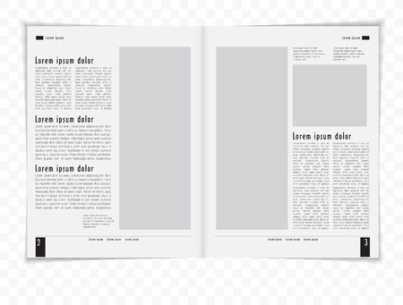 blank newspaper: Layout magazine  Editable vector  Illustration