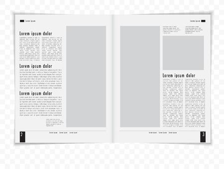 Layout magazine  Editable vector  Illustration