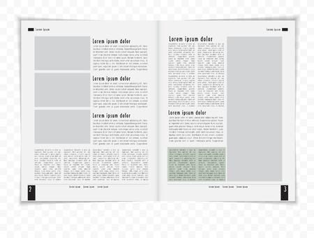 Layout magazine  Editable vector  Vector