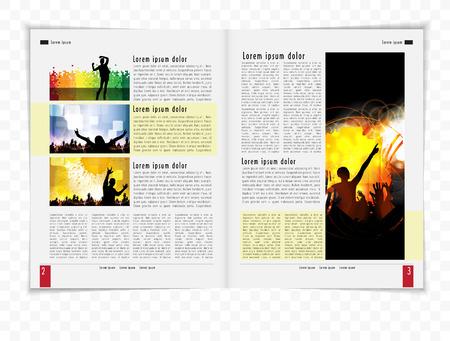 Template magazine  Vector