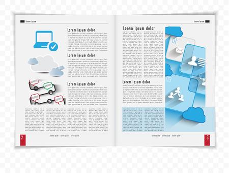 Template magazine  Vector  Vector