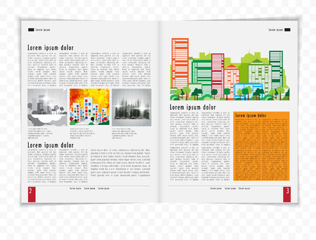 read magazine: Magazine Layout Vector