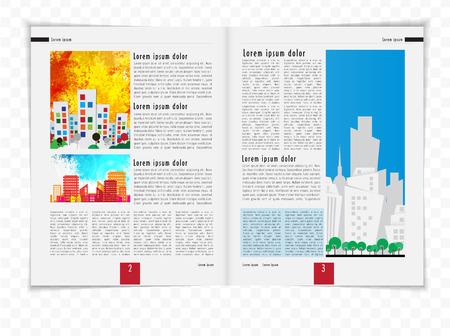open magazine: Layout magazine, vector