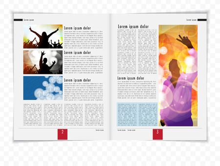 blank newspaper: Layout magazine, vector