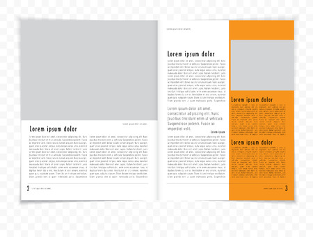 Magazine layout. Vector Vector