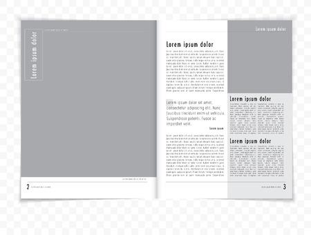 Layout magazine, vector Vector