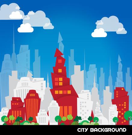 city background: City vector background