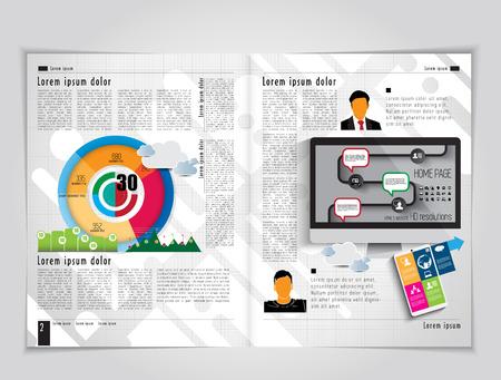 magazine layout: Magazine layout. Vector Illustration