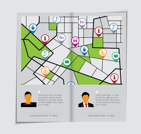 magazine layout: Magazine layout.  Illustration