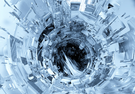 fantasy fiction: 3D futuristic background