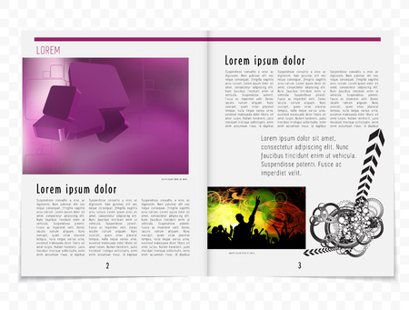 evening newspaper: Magazine layout. Vector