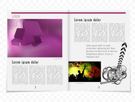 evening newspaper: Magazine layout. Vector