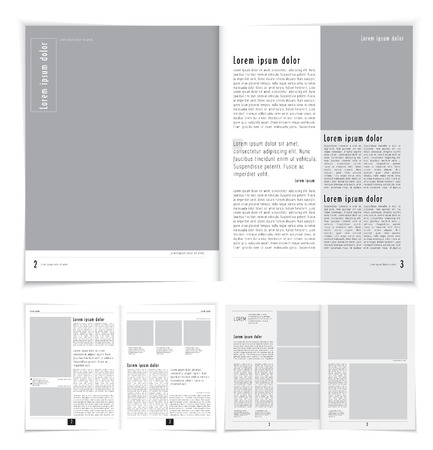 blank magazine: Layout magazine. Editable vector Illustration