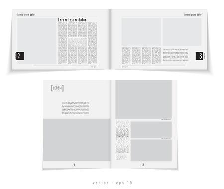 Layout magazine.  Vector