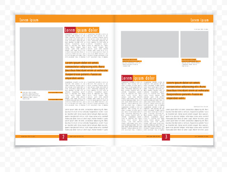 page layout: Layout magazine, vector