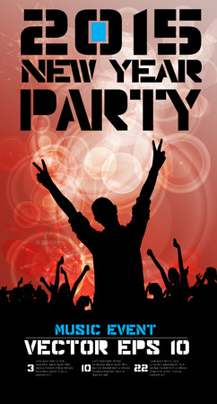 clubing: Music poster background with dancing people