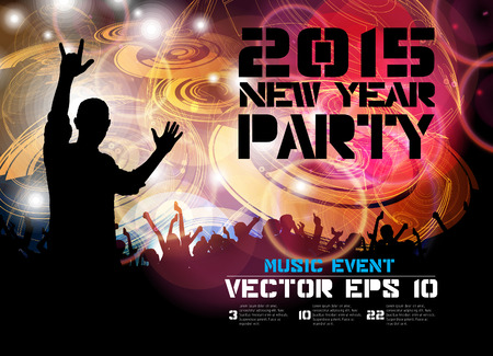 nightclub crowd: Music poster background with dancing people