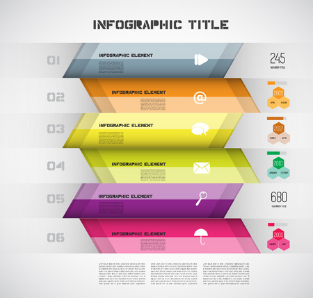 Infographic Modern Design Layout, Vector Vector