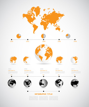the americas: Timeline Infographic, vector Illustration