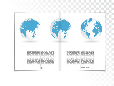 Magazine Layout Vector Vector