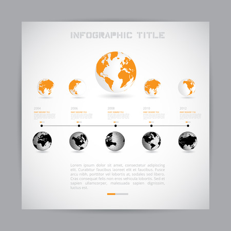 sector: Timeline Infographic. Vector design template.