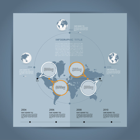 top of the world: Timeline Infographic, vector Illustration