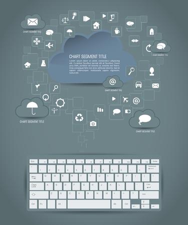 Cloud infographics, vector Vector