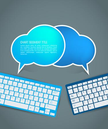 Cloud infographics  Vector