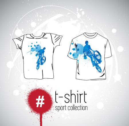 raglan: Vector. Mans t-shirt design with sport elements