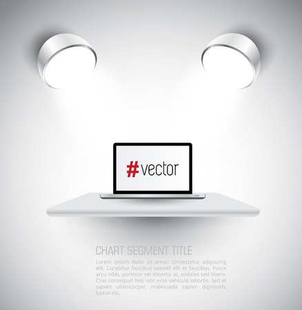 Modern glossy laptop Vector