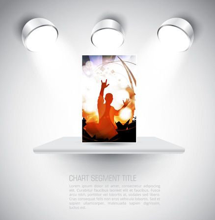 adoring: Dancing people. Music event illustration. Vector