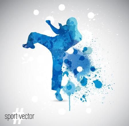 martial arts: Sport. Karate illustartion Illustration