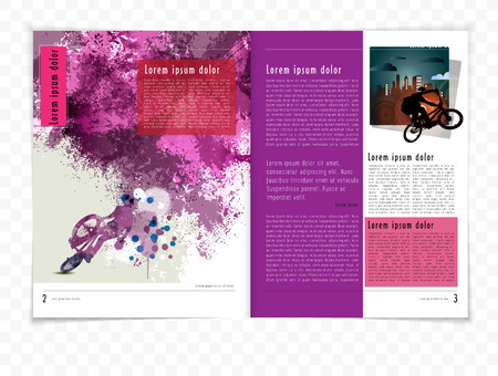 magazine: Magazine Layout Vector