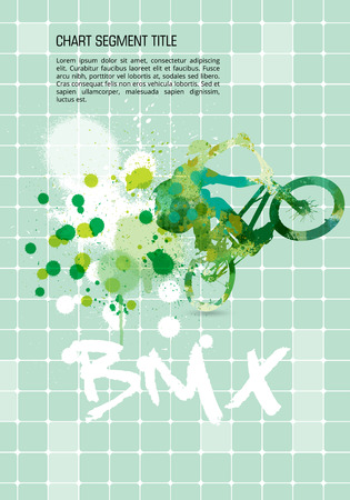 summer tires: BMX, extreme sport vector illustration